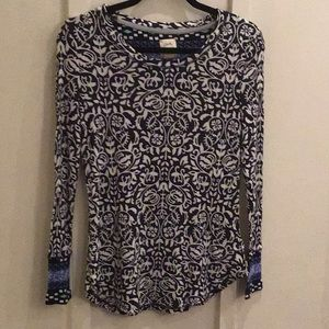 Lucky Brand Floral Thermal Tee